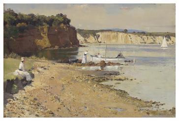Slumbering Sea, Mentone, 1887 by Tom Roberts
