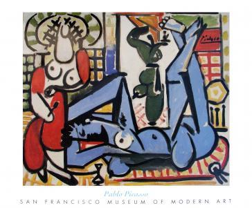 Les femmes d' Alger, E (Woman of Algiers, E), 1955 by Pablo Picasso