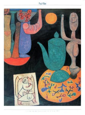 Ohne Titel (Letztes Stilleben - Komposition auf Schwarzen Grund), 1940 by Paul Klee