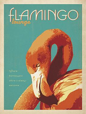 Vintage, Flamingo Lounge by Al Joeand