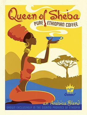 Vintage, Queen of Sheba Coffee by Al Joeand