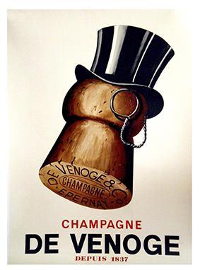 Vintage Advertising, De Venoge Champagne by Robert Falcucci