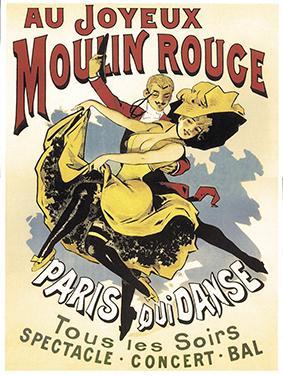 Au Joyeux Moulin Rouge, 1896 by Alfred Choubrac