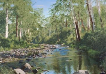 Tranquil Stream by Mark Barnes
