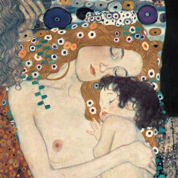 Le tre eta della donna (Mother and Child) by Gustav Klimt