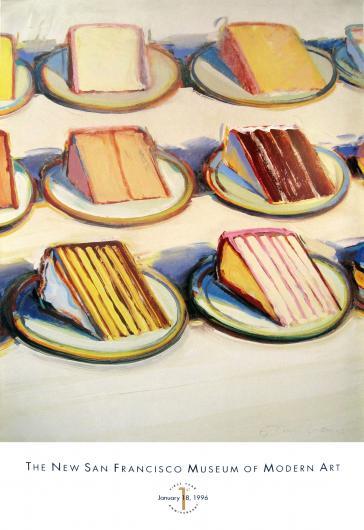 Cake Slices, 1994 by Wayne Thiebaud