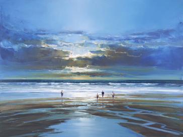 A Stroll On The Beach by Mel Brigg