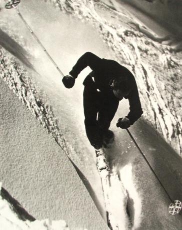 Skier Performing an expert Christiania by Corbis-Bettmann