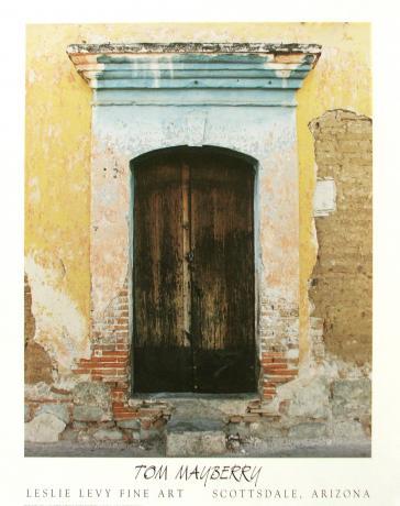 Brown Door, Oaxaca by Tom Mayberry