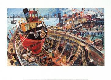 Tug Boat in a Boat, 1956 by John Perceval