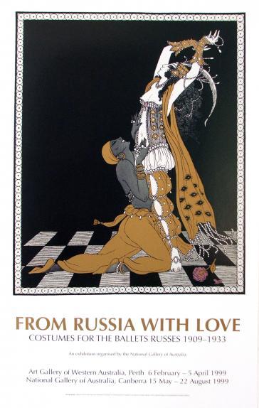 Nijinsky as the Golden Slave and Rubinstein as Zobeide, 1913 by George Barbier