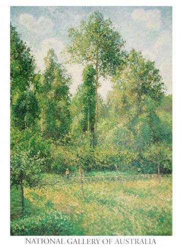 Poplars, Eragny, 1895 by Camille Pissarro