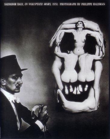 Dali, In Voluptate Mors, 1951 by Philippe Halsman