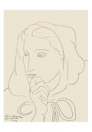 Portrait de femme en capuchon, 1939 by Henri Matisse