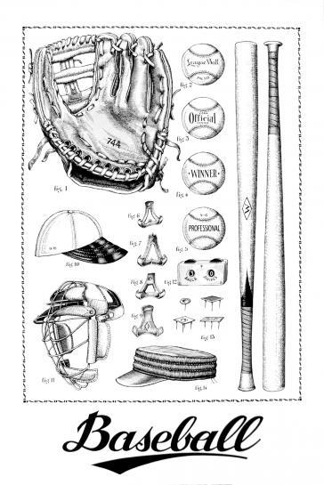 Baseball by Neil Gower