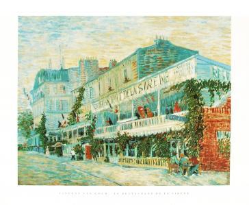 Le Restaurant de la Sirene by Vincent Van Gogh