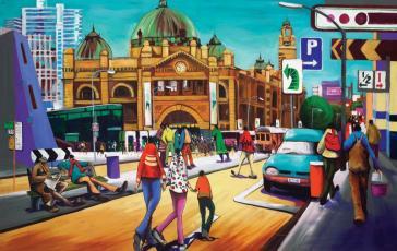Flinders Street Hub by Donald James Waters