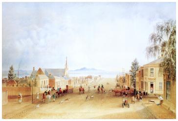 Yarra Street Geelong, 1872 by Alexander Webb