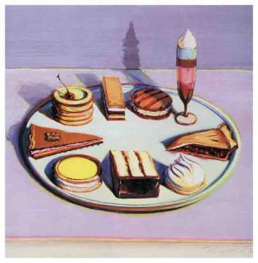 Dessert Tray, 1963 by Wayne Thiebaud