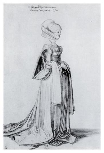 A Nuremberg Costume Study by Albrecht Dürer