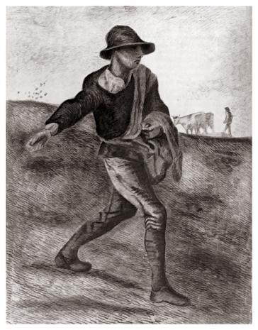 Sower (after Millet). Etten, 1881 by Vincent Van Gogh