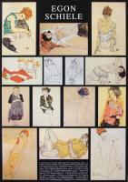 Fourteen Paintings by Egon Schiele