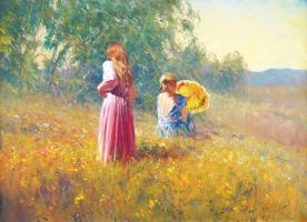 Field Of Flowers by Robert Hagan