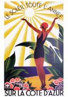 Le Soleil sur la Cote d'Azur, 1931 by Roger Broders