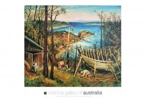 Boat Builders, Eden, 1948 by Arthur Boyd
