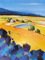 Les Iris de Gordes by Richard Moisan