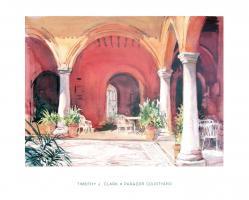 Parador Courtyard by Timothy J. Clark
