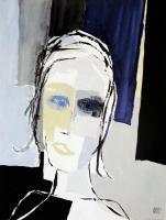Femme aux yeux bleus by Christian Choisy