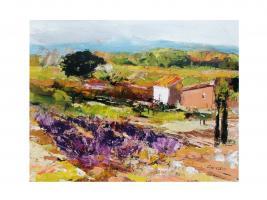 Le champ de lavande by Poumelin