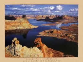 Gunsight Butte - Lake Powell by John Gavrilis