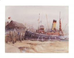 Tug Boat, Maldon, England by John Orlando - Birt