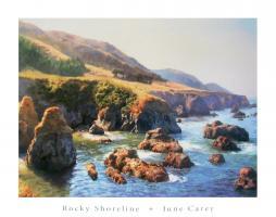 Rocky Shoreline by June Carey