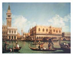Veduta del Molo di San Marco dal Bacino, 1730's by Giovanni Antonio Canaletto